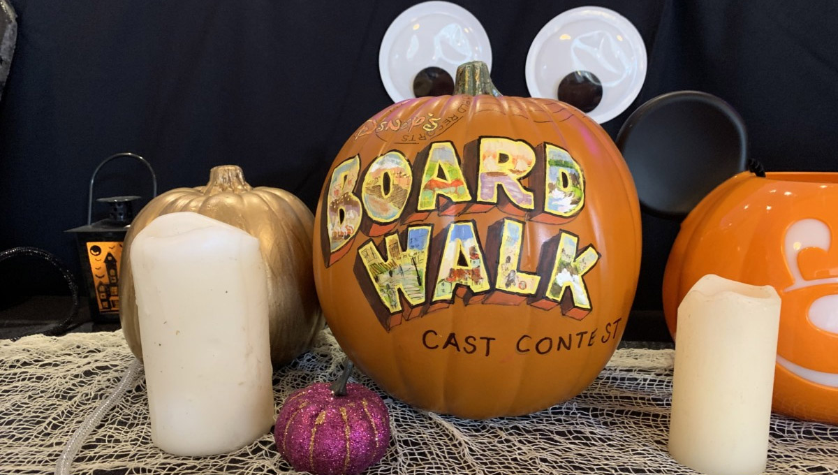 Concurso de abóbora de Halloween 2019 exibido no Disney's Boardwalk Resort