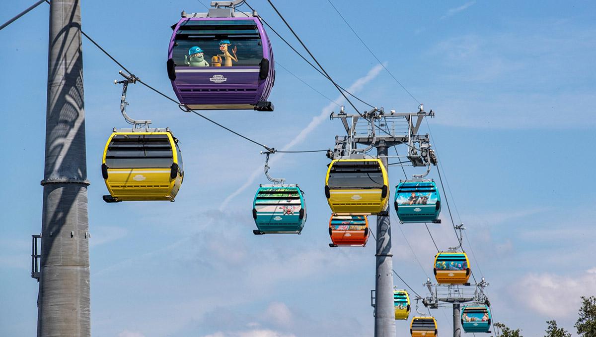 """O teleférico """"Disney's Skyliner"""" foi inaugurado, e nós já visitamos!"""