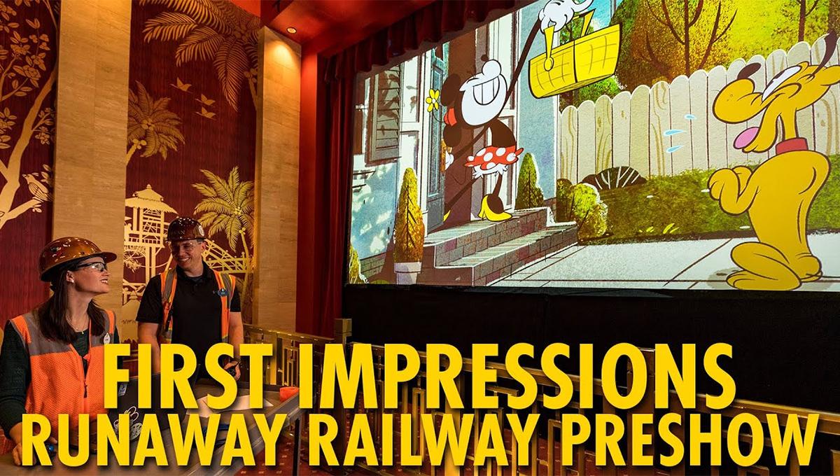Mickey & Minnie's Runaway Railway será inaugurado em 4 de março de 2020
