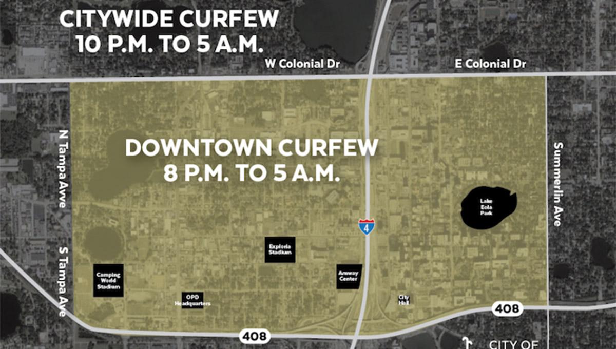 Prefeito de Orlando determina toque de recolher às 20h no centro de Orlando